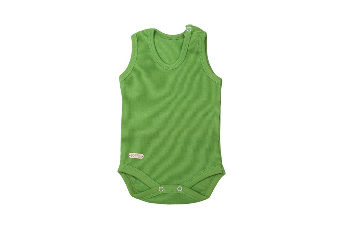 زیر دکمه دار رکابی سبز دخترانه پسرانه رنگی برگ سبز