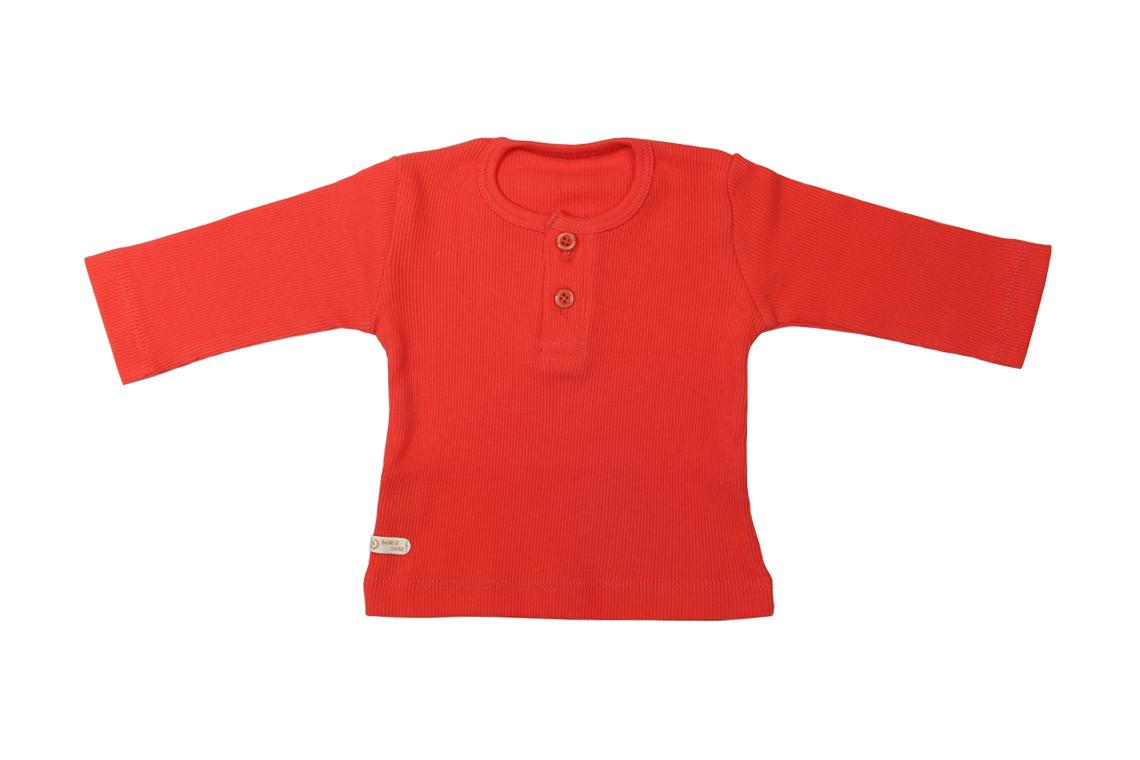آستین بلند قرمز دخترانه پسرانه رنگی برگ سبز