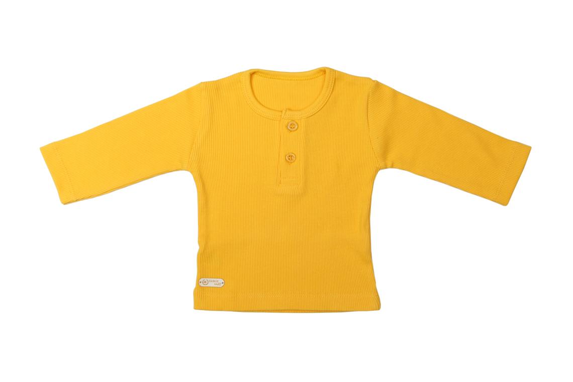 آستین بلند زرد دخترانه پسرانه رنگی برگ سبز