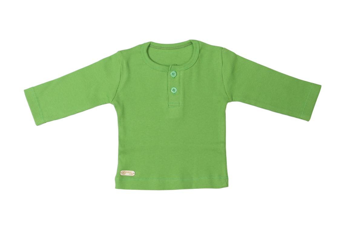 آستین بلند سبز دخترانه پسرانه رنگی برگ سبز