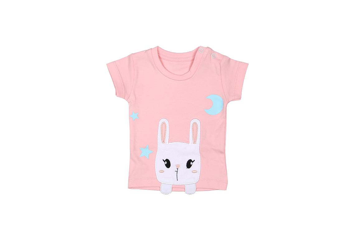 آستین کوتاه خرگوش تکه دوزی دخترانه